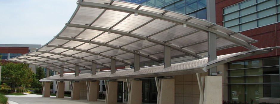 arcoPlus®626 Reversò. Canopy fabricated by Wasco Products.U.S.
