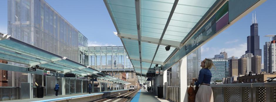 arcoPlus®626 Reversò. Traslucent Canopy. CTA Chicago. U.S.