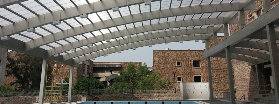 arcoPlus®. Pool Canopy. U.S. Embassy School, New Delli, India